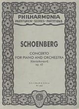 Arnold Schoenberg - Klavierkonzert op。 42 - 党派 - 楽譜 - di-arezzo.jp