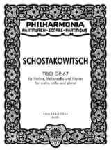 Dmitri Chostakovitch - Trio op. 67 - Partitur - Partition - di-arezzo.fr