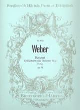 Carl Maria von Weber - Klarinettenkonzert, Nr. 2 Es-Dur op. 74 - Partitur - Partition - di-arezzo.fr