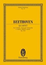 Streichquartett c-moll op. 18/4 -Partitur BEETHOVEN laflutedepan.com