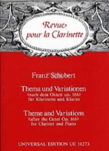 Franz Schubert - Thema und Variationen - Partition - di-arezzo.fr