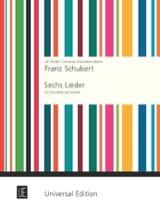 6 Lieder für Klarinette und Klavier SCHUBERT laflutedepan.com