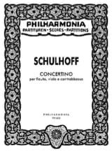 Concertino - Partitur Erwin Schulhoff Partition laflutedepan.com
