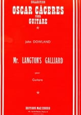 John Dowland - Mr. Langton's Galliard - Partition - di-arezzo.fr