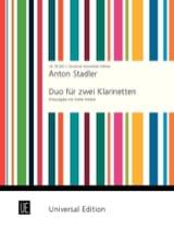 Duo für 2 Klarinetten Anton Stadler Partition laflutedepan.com