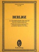 BERLIOZ - Fausts Verdammung La Damnation De Faust - Conducteur - Partition - di-arezzo.fr