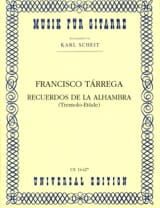 Francisco Tarrega - Recuerdos of the Alhambra - Sheet Music - di-arezzo.co.uk