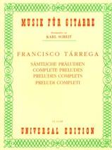 Francisco Tarrega - Sämtliche Präludien - Sheet Music - di-arezzo.com