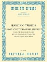 Francisco Tarrega - Sämtliche Technische Studien - Sheet Music - di-arezzo.com