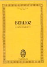 Les Nuits d'Eté - Conducteur BERLIOZ Partition laflutedepan.com