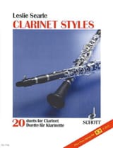 Clarinet Styles + K7 Leslie Searle Partition laflutedepan.com