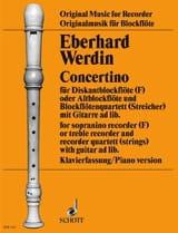 Concertino - sopranino recorder Eberhard Werdin laflutedepan.com