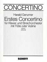 Concertino Nr. 1 – Partitur - Harald Genzmer - laflutedepan.com