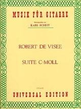 Suite c-moll Robert de Visée Partition Guitare - laflutedepan.com