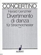 Divertimento di danza – Partitur - Harald Genzmer - laflutedepan.com