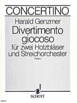 Divertimento giocoso – Partitur - Harald Genzmer - laflutedepan.com