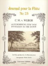 Carl Maria von Weber - Aufforderung zum Tanz - Flöte Klavier - Partition - di-arezzo.fr