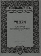Anton Webern - 5 Sätze für Streichquartett op. 5 - Partitur - Sheet Music - di-arezzo.com