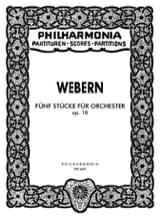 5 Stücke für Orchester op. 10 - Partitur Anton Webern laflutedepan.com