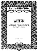 6 Stücke Für Orchester Op. 6a - Urspr. Fassung – Partitur laflutedepan.com