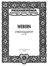 Anton Webern - Streichquartett op. 28 - Partitur - Sheet Music - di-arezzo.co.uk