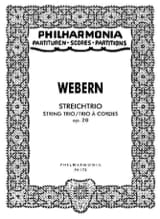 Streichtrio op. 20 - Partitur Anton Webern Partition laflutedepan.com
