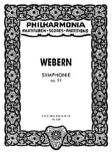 Symphonie op. 21 - Partitur Anton Webern Partition laflutedepan.com