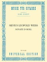 Sonate d-moll -Gitarre Silvius Leopold Weiss laflutedepan.com