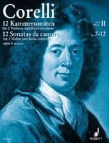 Arcangelo Corelli - 12 Kammersonaten op. 4 Bd. 2 : Nr. 7-12 –2 Violinen u. Bc - Partition - di-arezzo.fr