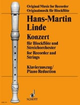 Konzert für Blockflöte Hans-Martin Linde Partition laflutedepan.com