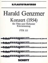 Konzert (1954) – Flöte Klavier - Harald Genzmer - laflutedepan.com