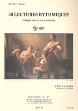 Yves Callier - 40 Rhythmic readings - Sheet Music - di-arezzo.co.uk