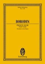 Alexandre Borodine - Fürst Igor, Ouverture - Conducteur - Partition - di-arezzo.fr