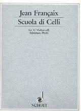 Scuola di celli Jean Françaix Partition Violoncelle - laflutedepan.com