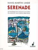 Serenade Hans-Martin Linde Partition Flûte à bec - laflutedepan.com