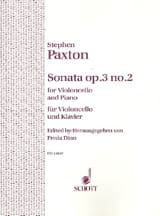Stephen Paxton - Sonate op. 3 n° 2 - Partition - di-arezzo.fr
