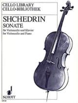 Sonate - Violoncelle Rodion Shchedrin Partition laflutedepan.com