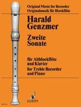 Sonate Nr. 2 – Altblockflöte Klavier Harald Genzmer laflutedepan.com