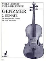 Sonate Nr. 2 –Viola Klavier Harald Genzmer Partition laflutedepan.com