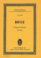 Concerto grosso h-Moll William Boyce Partition laflutedepan.com