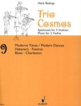 Trio Cosmos n° 9 - Henk Badings - Partition - laflutedepan.com