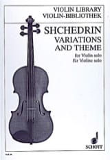 Variations and Theme - Rodion Shchedrin - Partition - laflutedepan.com