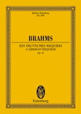 Ein Deutsches Requiem - Conducteur BRAHMS Partition laflutedepan.com
