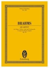 Klavier-Quartett A-Dur Johannes Brahms Partition laflutedepan.com