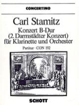 Carl Stamitz - Konzert B-Dur für Klarinette – Partitur - Partition - di-arezzo.fr
