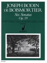6 Sonatas, op. 19 - Flöte und Bc BOISMORTIER laflutedepan.com