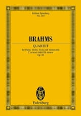 Klavier-Quartett c-moll Op.60 BRAHMS Partition laflutedepan.com