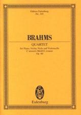 Klavier-Quartett c-moll Op.60 - Johannes Brahms - laflutedepan.com