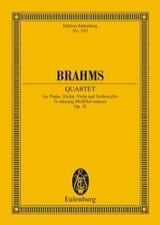 Klavier-Quartett g-moll BRAHMS Partition laflutedepan.com