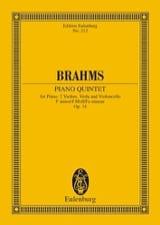 BRAHMS - Klavier-Quintett F-Moll, Op. 34 - Partitura - di-arezzo.es